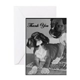 Thank You Boxer Dog Greeting Card