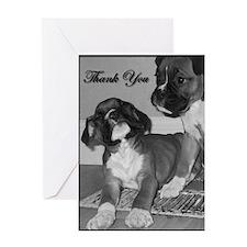 Thank You Boxer Dog Greeting Card