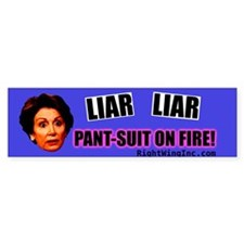 Nancy Pelosi - Liar Liar, Pan Bumper Sticker