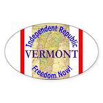 Vermont-3 Oval Sticker (10 pk)