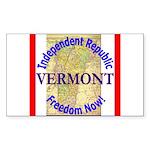 Vermont-3 Rectangle Sticker 10 pk)
