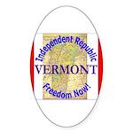 Vermont-3 Oval Sticker (50 pk)