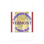 Vermont-3 Rectangle Sticker 50 pk)