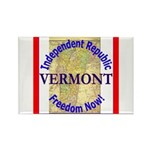 Vermont-3 Rectangle Magnet (100 pack)