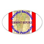 Vermont-1 Oval Sticker (50 pk)