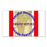 Vermont-1 Rectangle Sticker 10 pk)