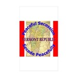 Vermont-1 Rectangle Sticker 50 pk)