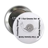 "Vegetarian Snail 2.25"" Button (100 pack)"