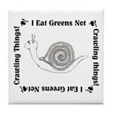 Vegetarian Snail Tile Coaster