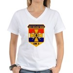USS Belleau Wood LHA 3 US Navy Women's V-Neck T-Sh