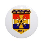 USS Belleau Wood LHA 3 US Navy Ornament (Round)