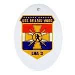 USS Belleau Wood LHA 3 US Navy Oval Ornament
