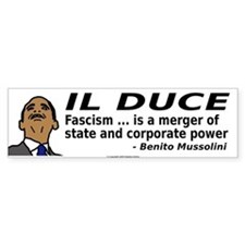 Obama: Il Duce Bumper Bumper Sticker