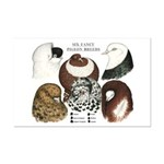 Six Pigeons Mini Poster Print