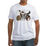 Six Pigeons Fitted T-Shirt
