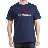 I LOVE THE BAHAMAS Black T-Shirt