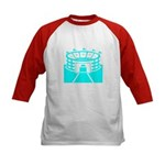 Cyan Stadium Kids Baseball Jersey