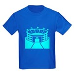 Cyan Stadium Kids Dark T-Shirt
