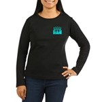 Cyan Stadium Women's Long Sleeve Dark T-Shirt