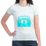 Cyan Stadium Jr. Ringer T-Shirt
