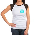 Cyan Stadium Women's Cap Sleeve T-Shirt