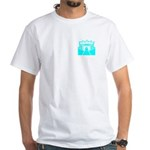 Cyan Stadium White T-Shirt