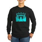 Cyan Stadium Long Sleeve Dark T-Shirt