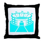 Cyan Stadium Throw Pillow