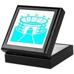 Cyan Stadium Keepsake Box