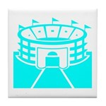 Cyan Stadium Tile Coaster