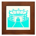 Cyan Stadium Framed Tile