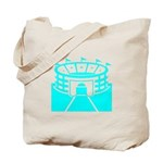 Cyan Stadium Tote Bag