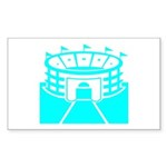Cyan Stadium Rectangle Sticker 50 pk)