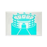 Cyan Stadium Rectangle Magnet (100 pack)