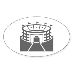 Gray Stadium Oval Sticker