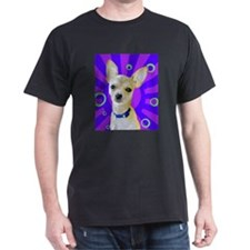 Charming Chihuahua Black T-Shirt