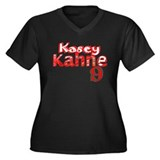 Kasey Kahne Women's Plus Size V-Neck Dark T-Shirt