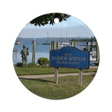 Custom Round OrnamentHarbor Springs Marina