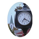 Custom Oval Ornament Harbor Springs Clock