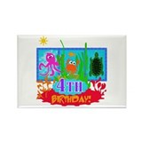 Undersea Adventure 4th Rectangle Magnet