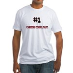 Number 1 CAREERS CONSULTANT Fitted T-Shirt