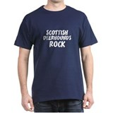 SCOTTISH DEERHOUNDS ROCK Black T-Shirt