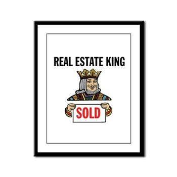 KING OF SOLD Framed Panel Print