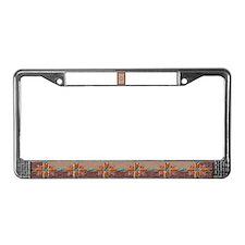 License Plate Frame Navajo rug art