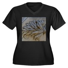 Wheat Women's Plus Size V-Neck Dark T-Shirt