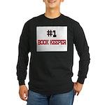 Number 1 BOOK KEEPER Long Sleeve Dark T-Shirt