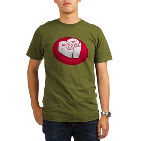 All My Love Broken Heart Organic Men's T-Shirt (da