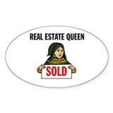 SALES QUEEN Oval Sticker (50 pk)