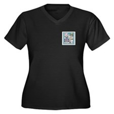 Philatelist Women's Plus Size V-Neck Dark T-Shirt