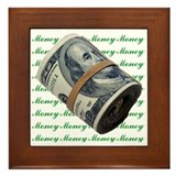I am Financially Free!  Framed Tile
